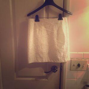 Off white floral mini skirt